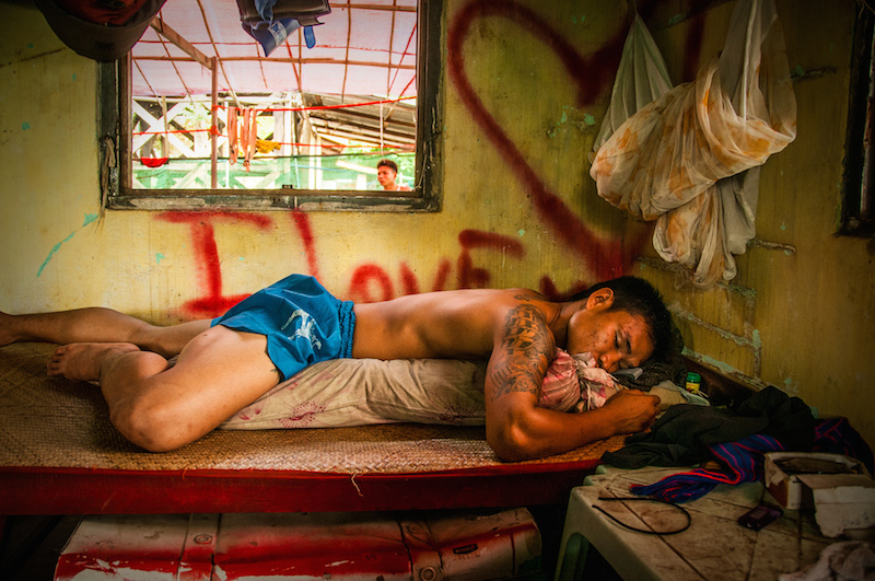 The Champion, inside of Burmese boxer's training camp, from the series BURMESE DREAMS